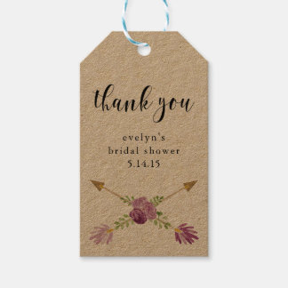 Bridal Shower Gift Tags Party Favors Arrow Rustic Pack Of Gift Tags