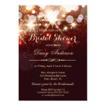 "Bridal Shower - Glamour Gold Glitter Sparkles 5"" X 7"" Invitation Card"