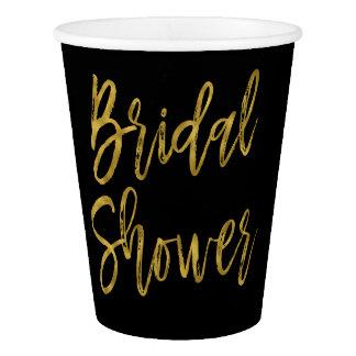 Bridal Shower Gold Foil Paper Cup