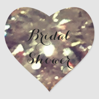 Bridal Shower Heart Sticker