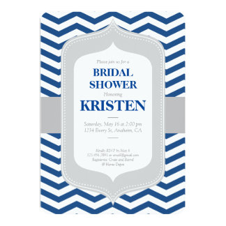 Bridal Shower Invitation, Chevron, Classic, Modern Card