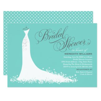 Bridal Shower Invitation | Elegant Wedding Gown