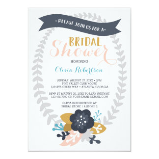 Bridal Shower Invitation, Floral, Contemporary Card