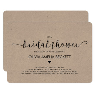 Bridal Shower Invitation - Kraft