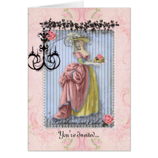 bridal shower invitation Marie Antoinette