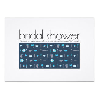 Bridal Shower Invitation  |  Peacock Blue