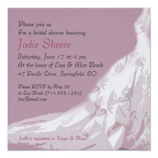 Bridal Shower Invitation : Pink dress