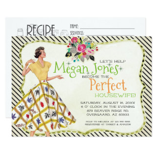 Bridal Shower Invitation | Retro Housewife