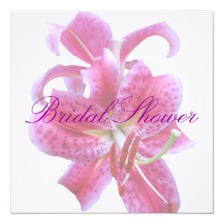 "Bridal Shower Invitation--Stargazers-2 Transp 5.25"" Square Invitation Card"