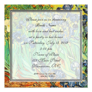Bridal shower invitation, Vincent van Gogh,Irises Card