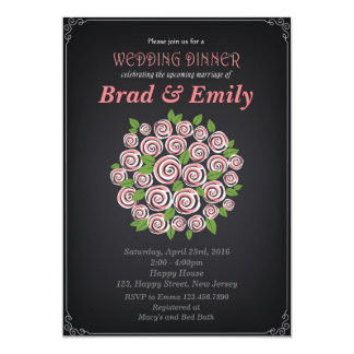 Bridal Shower Invitation. Wedding Dinner Invitatio Card