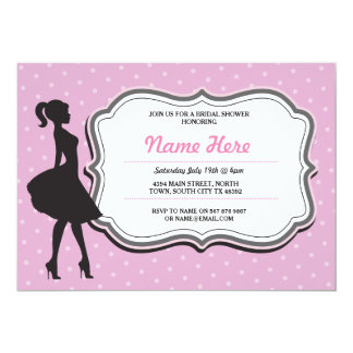 Bridal Shower Invite Pink Bachelorette Dots Party