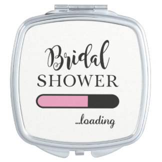 Bridal Shower Loading Fun Gift Mirror Bride To Be Compact Mirrors