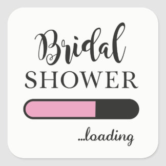 Bridal Shower Loading Fun Party Pink Team Stickers