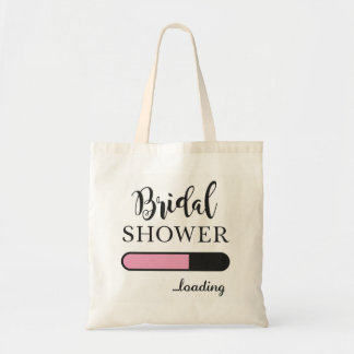 Bridal Shower Loading Fun Party Pink Team Tote bag