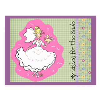 Bridal Shower Marriage Advice & Best Wishes Cards Postcard