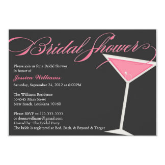 Bridal Shower Martini Card