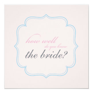 bridal shower memory game 5.25x5.25 square paper invitation card