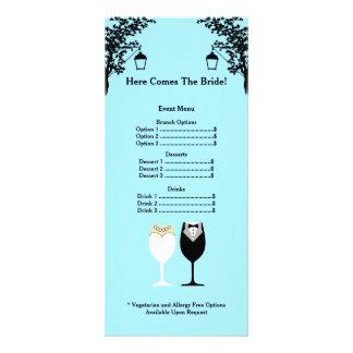 Bridal Shower Menu Rackcard Custom Rack Card