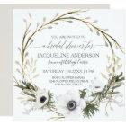 Bridal Shower Modern Anemone Twig Fern Eucalyptus Card