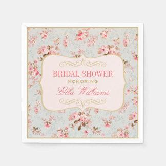 Bridal Shower Napkins | Vintage Garden Party Paper Napkins