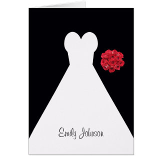 Bridal Shower or Luncheon Place Card Note Cards