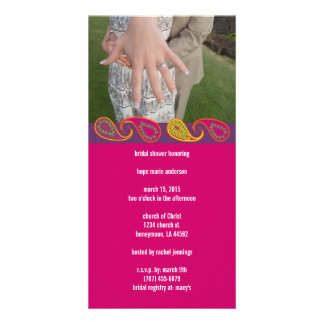 Bridal Shower Paisley Picture Card