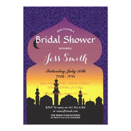 Bridal Shower Party Arabian Nights Invite Purple