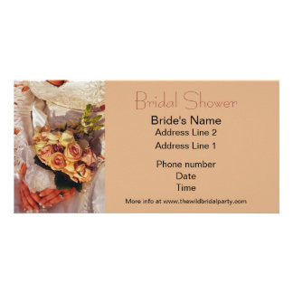 Bridal Shower Party Photo Card