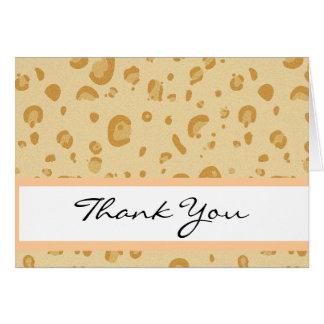 Bridal Shower Peach and Gold Leopard Confetti Card
