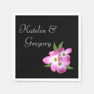 Bridal Shower Pink Dogwood Napkins Paper Napkins