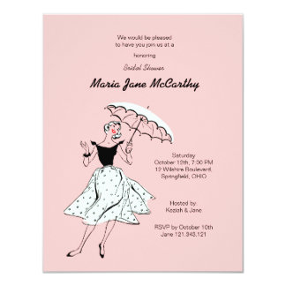 Bridal Shower Pink Invitation