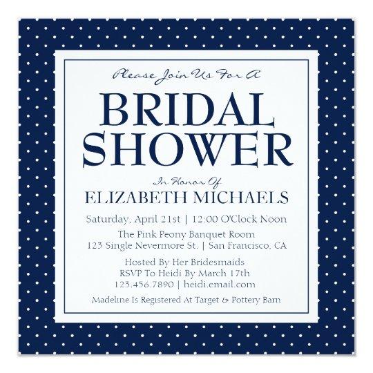 Bridal Shower Polka Dots Card