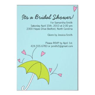 Bridal Shower Raining Love Card