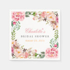 Bridal Shower Romantic Chic Floral Wreath Wrap Paper Napkin