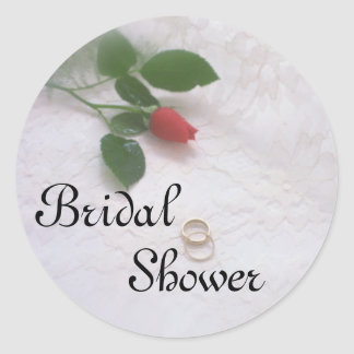 Bridal Shower Rose Stickers