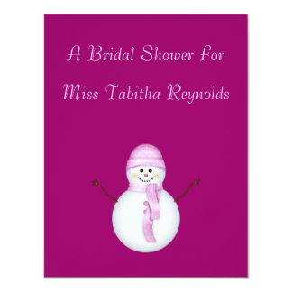 "Bridal Shower - Snowwoman 4.25"" X 5.5"" Invitation Card"