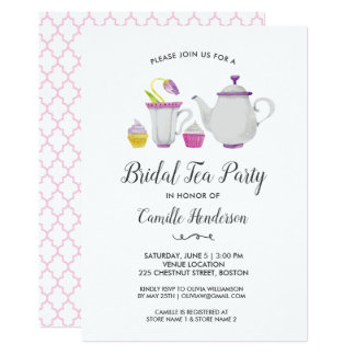 Bridal Shower Tea Party Cupcakes and Sweets Card