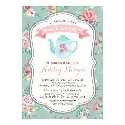 vintage tea party invitations | zazzle,