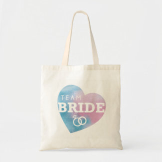 Bridal Shower Team Bride Heart Tote Bag Blue Item
