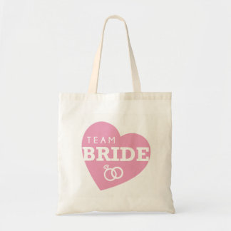 Bridal Shower Team Bride Heart Tote Bag Gift Item