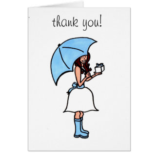 Bridal Shower Thank You (blank) Card