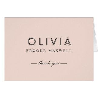 Bridal Shower Thank You | Blush Pink Card