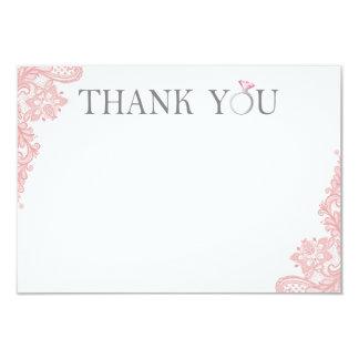 Bridal Shower Thank You Card - 3.5x5 Flat Card