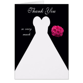 Bridal Shower Thank You Card -- Bridal Gown