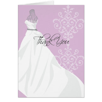 Bridal Shower Thank You Card  |  Purple