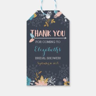 Bridal Shower Thank You Favor Tag, Boho Gift Tags