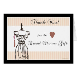 Bridal Shower Thank You - Mannequin Card