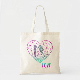 Bridal Shower Tote Bag - Seahorse Tote Bag
