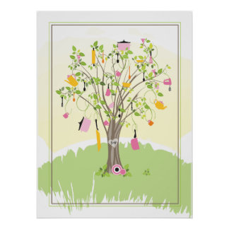 Bridal Shower Tree  |  Poster